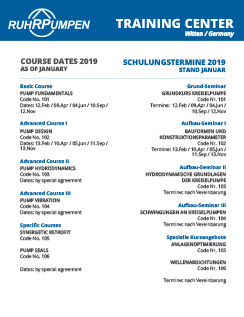Witten Training Center - Course Dates 2019