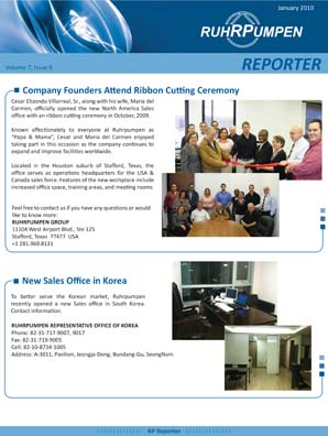 Newsletter January 2010 - English