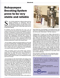 Publication about RP's Decoking System in Pumps & Systems Magazine