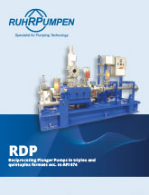 RDP Reciprocating Plunger Pump Brochure - EN