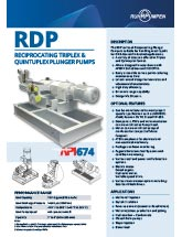 RDP Reciprocating Plunger Pump One Page Bulletin - EN