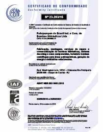 RP Brazil - ISO 9001:2015 certificate