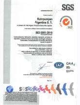 RP Argentina - ISO 9001:2008 certificate