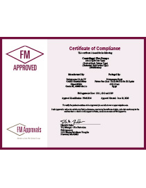 FM Certificate of Approval - Ruhrpumpen Fire Systems