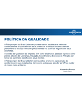 RP Brazil - Quality Policy (Portuguese)