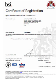 RP India - ISO 9001:2015 certificate