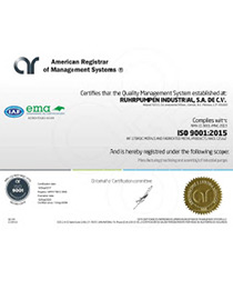 RP Mexico (Industrial) - ISO 9001:2015 certificate