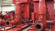 RP fire VTP vertical pump skid
