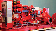 RP fire horizontal pump skid