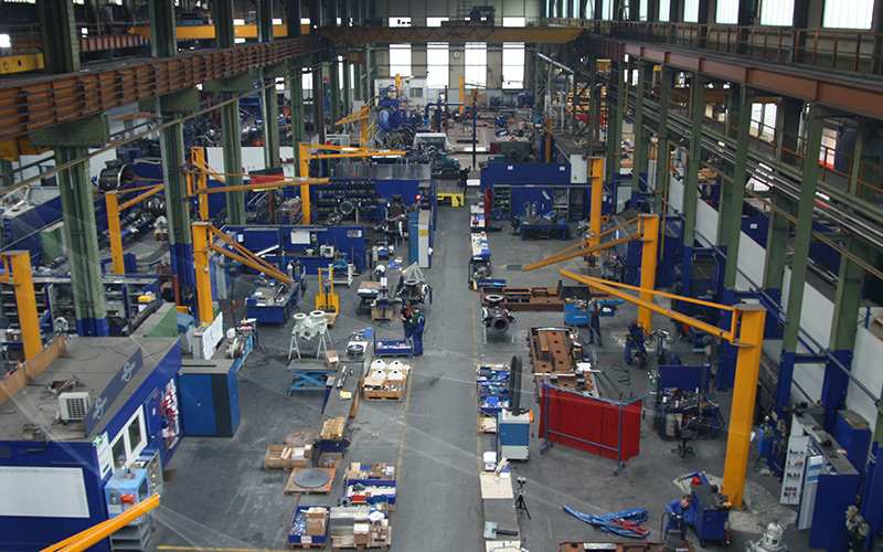 Inside the manufacturing plant in Witten, Germany