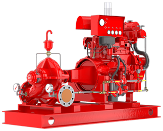 Fire protection pump packages for mines