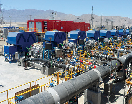 Pump station for seawater pipeline for Mining in Chile