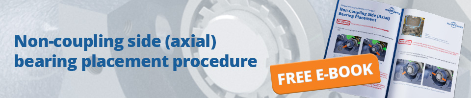Non-coupling side (axial) bearing placement procedure for centrifugal pumps