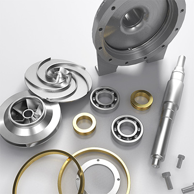 Spare parts for centrifugal pumps