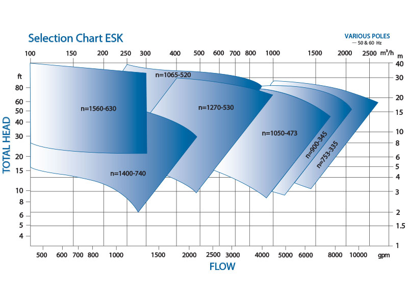 ESK Heavy Duty Vertical Process Pump Performance