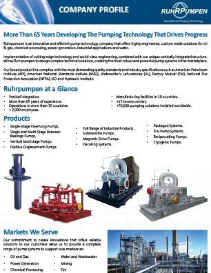 Ruhrpumpen Company Profile - EN