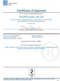 ISO 9001:2015 Certificate UK