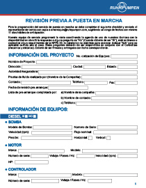 Puesta en marcha - Checklist (Español)